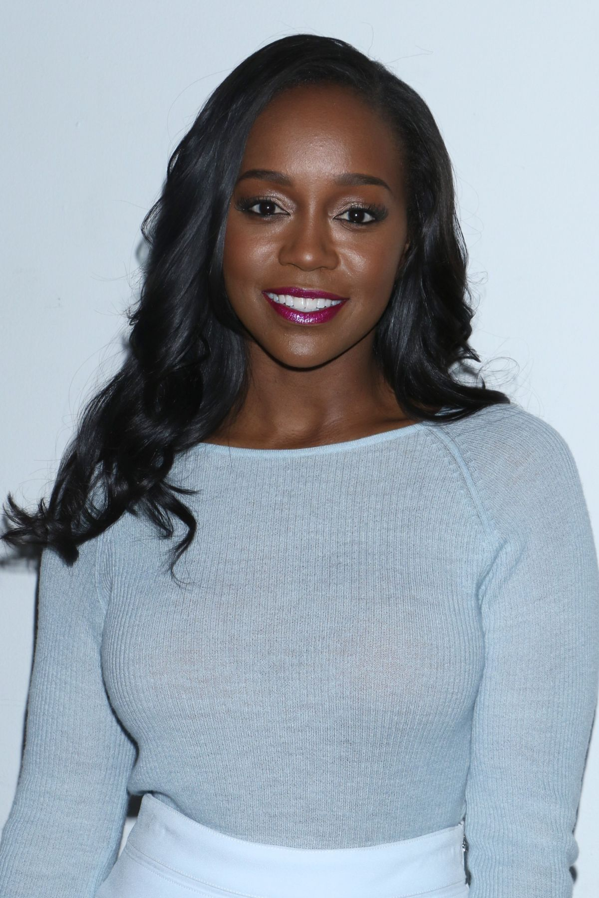 AJA NAOMI KING at Prabal Gurung Fashion Show at New York Fashion Week 02/12/2017