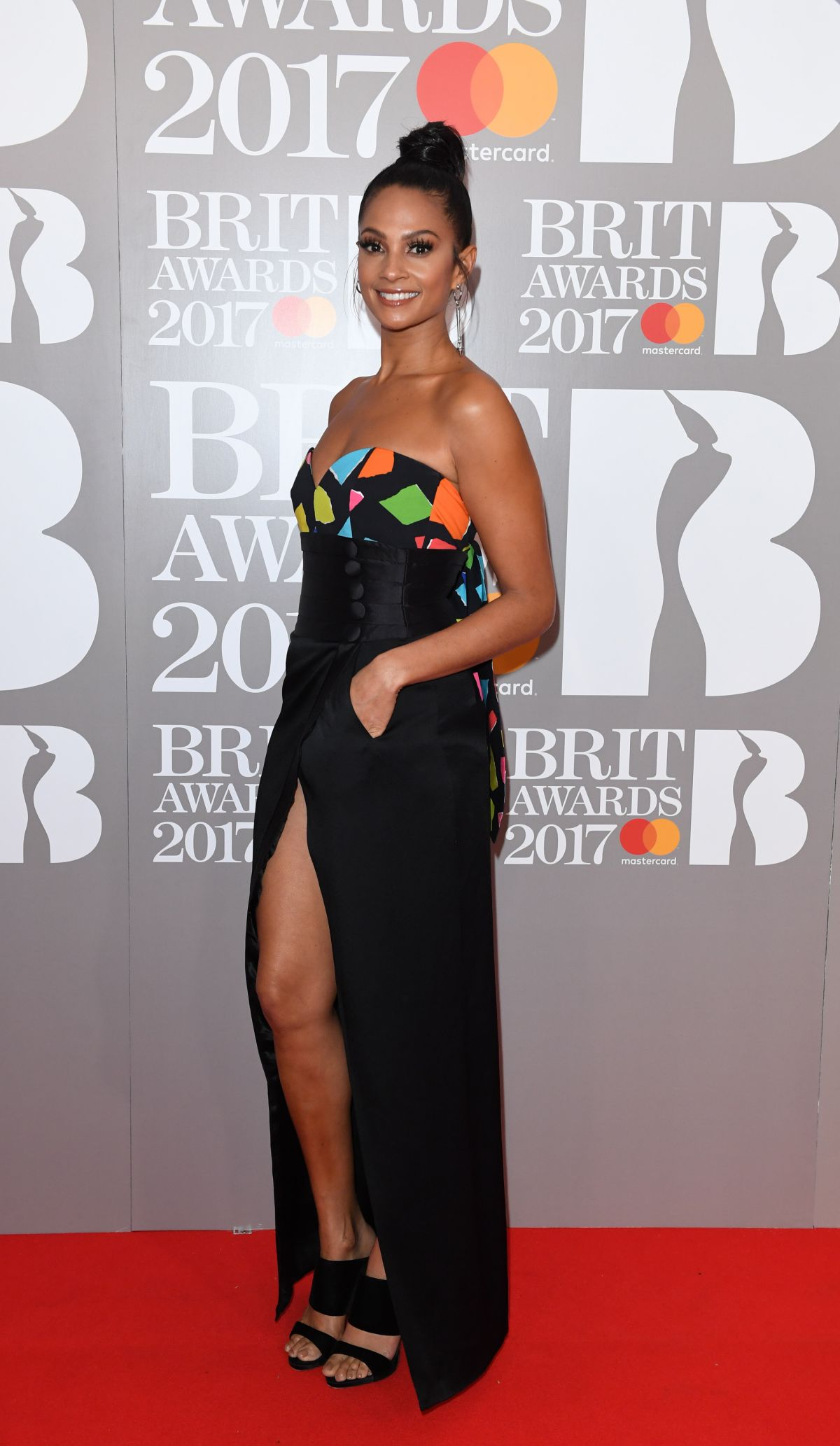 ALESHA DIXON at Brit Awards 2017 in London 02/22/2017
