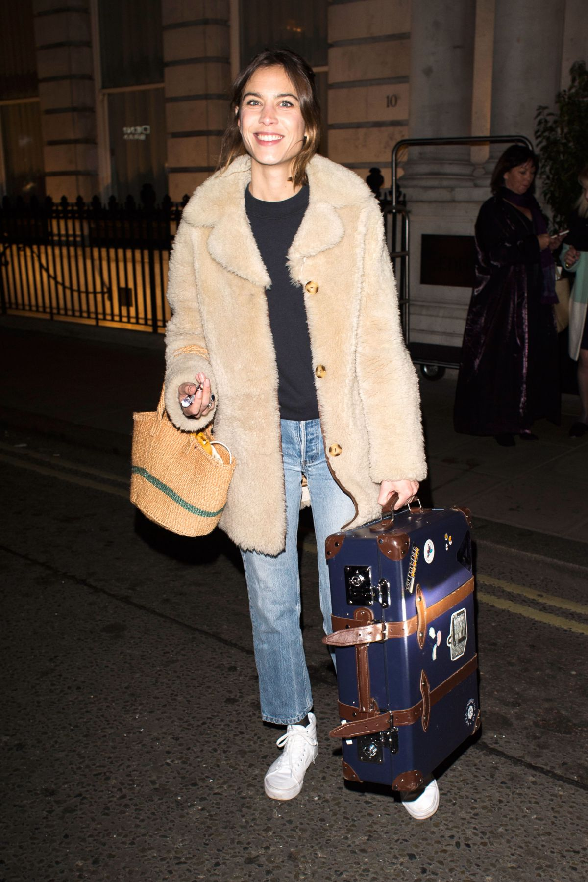 ALEXA CHUNG Leaves Her Hotel in London 02/18/2017