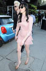 ALI LOHAN Arrives at Island Record Pre Grammy Party in Los Angeles 02/11/2017