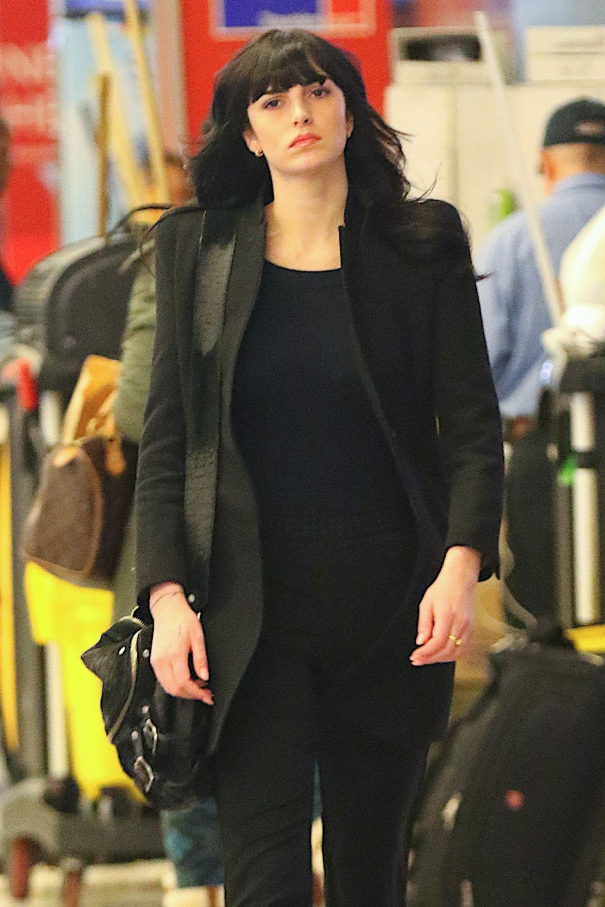 ALI LOHAN at JFK Airport in New York 02/09/2017
