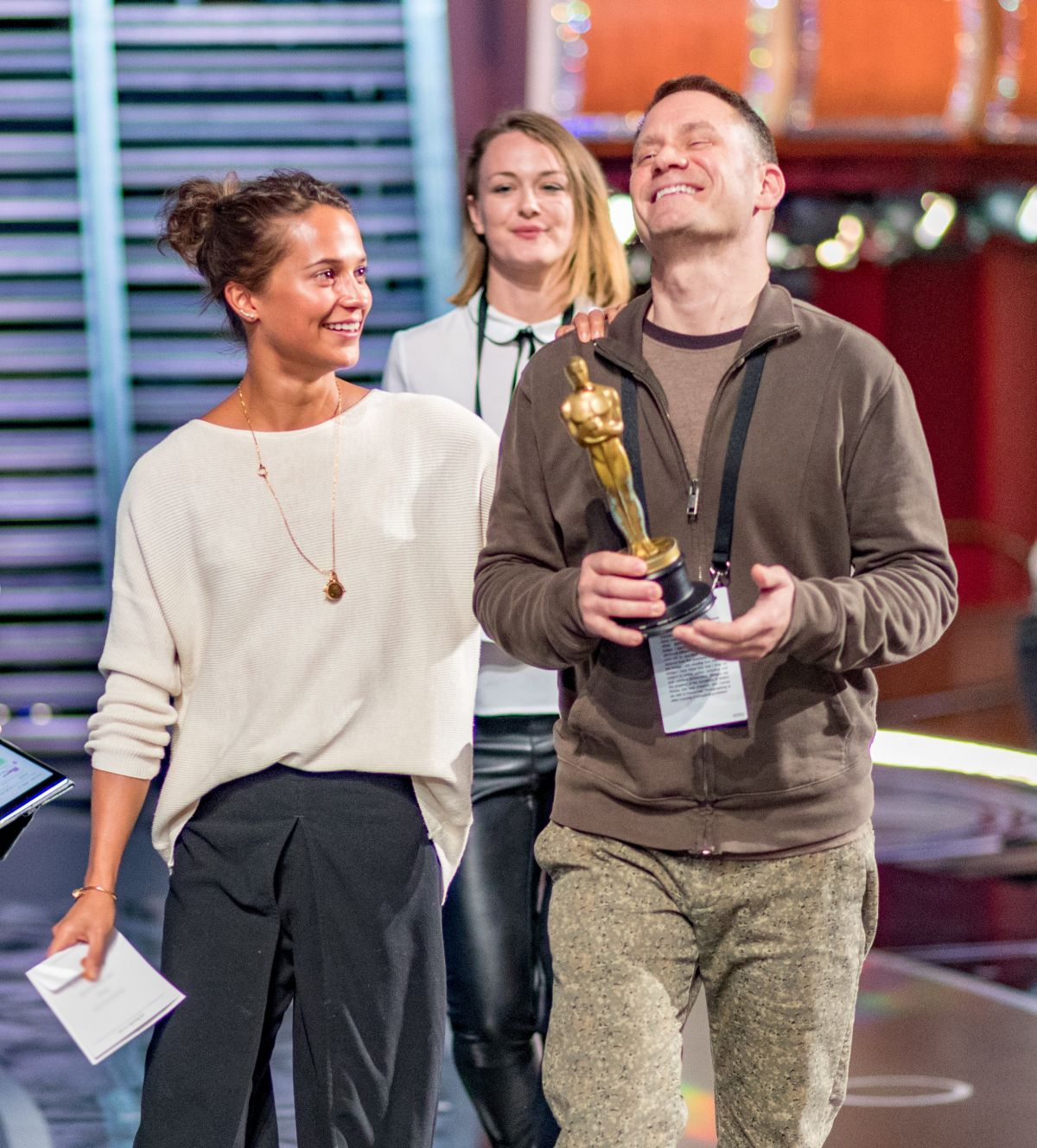 ALICIA VIKANDER at Rhearsals for 89th Annual Academy Awards in Hollywood 02/25/2017