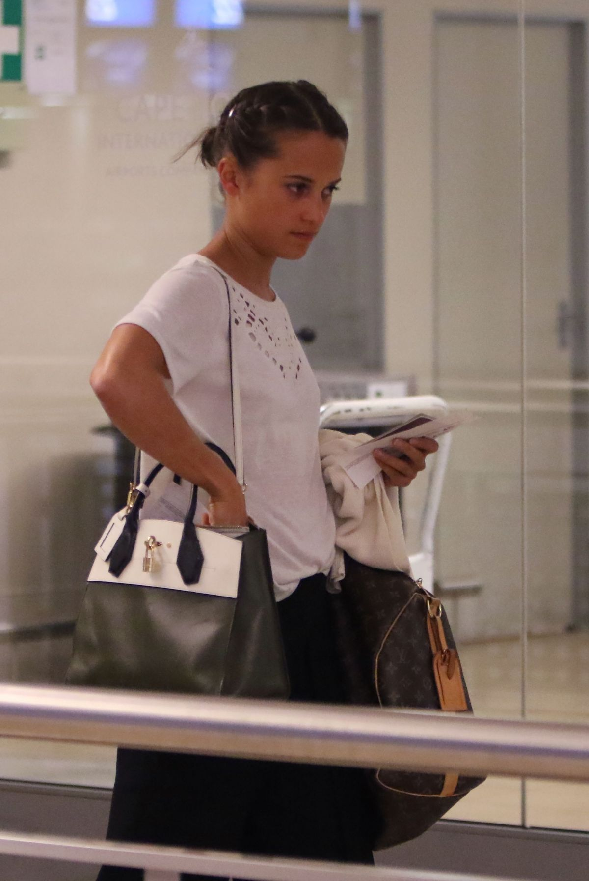 ALICIA VKANDER at Cape Town International Airport in South Africa 02/24/2017