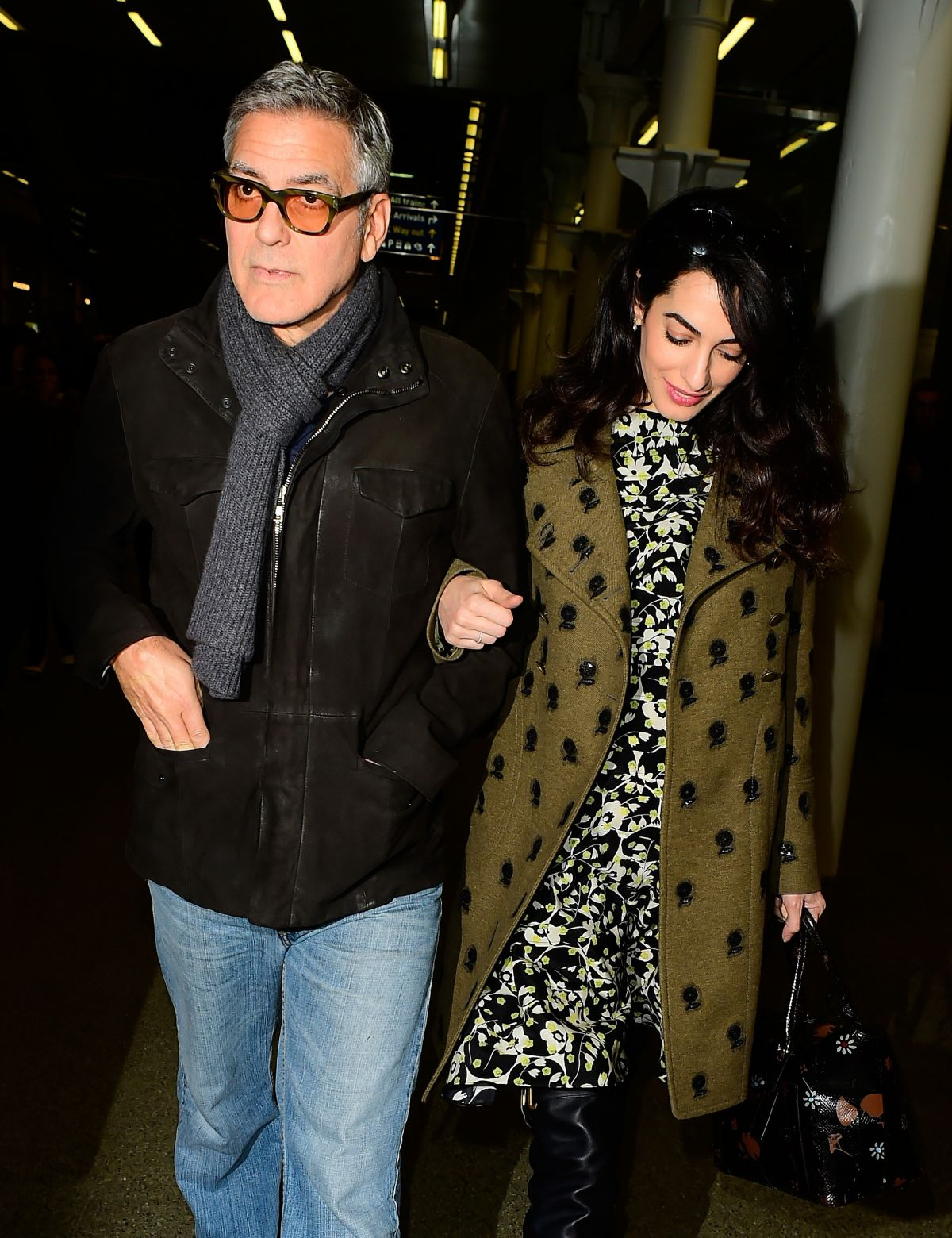 AMAL and George CLOONEY at St Pancras Eurostar in London 02/26/2017