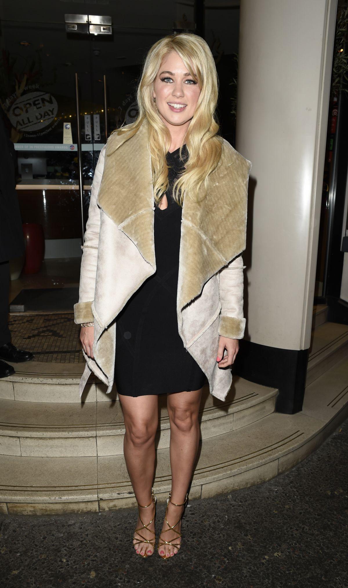 AMANDA CLAPHAM at San Carlo Restaurant in Manchester 02/18/2107