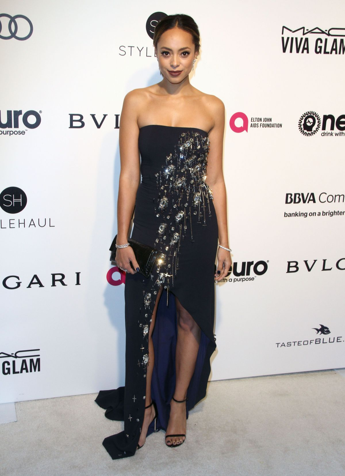 AMBER STEVENS at 25th Annual Elton John Aids Foundation's Oscar Viewing Party in Hollywood 02/26/2017