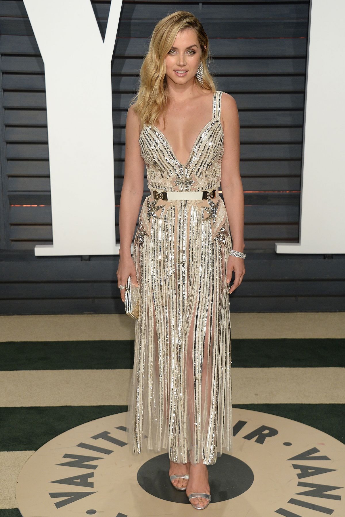 ANA DE ARMAS at 2017 Vanity Fair Oscar Party in Beverly Hills 02/26/