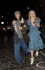 ANAIS GALLAGHER Leaves Mulberry Afterparty in London 02/19/2017