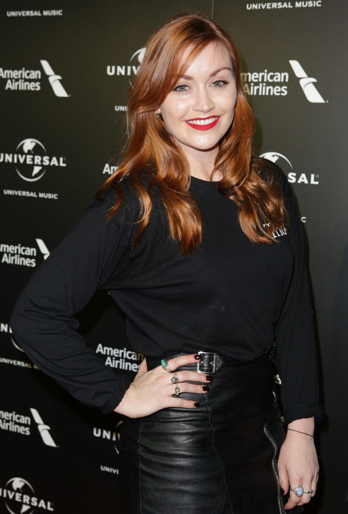 ARIELLE FREE at Universal Music Pre-brit Award Party in London 02/20/