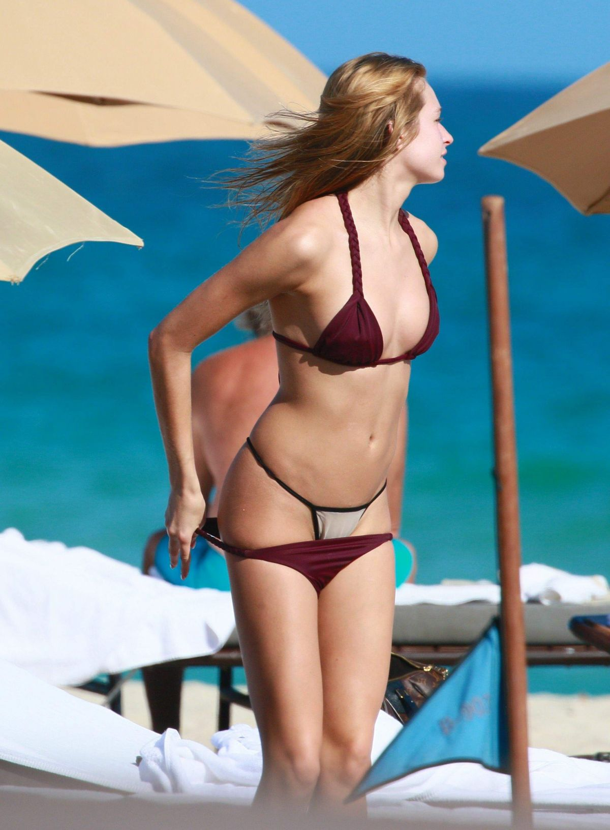 ASHLEN ALEXANDRA in Bikini at a Beach in Miami 02/09/2017