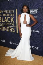 ASHLEY BLAINE FATHERSON at Bet's 2017 American Black Film Festival Honors Awards in Beverly Hills 02/17/2017