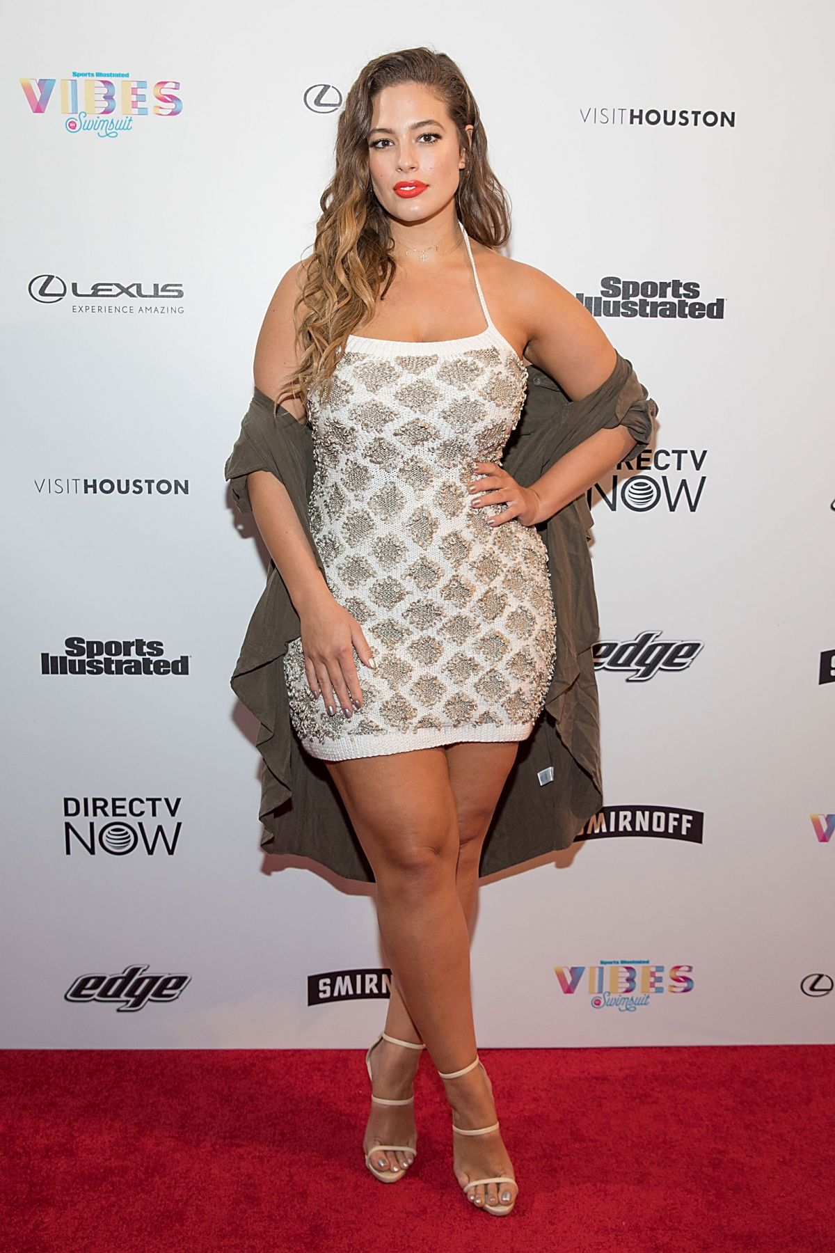 Ashley graham vibes by si swimsuit launch festival in houston