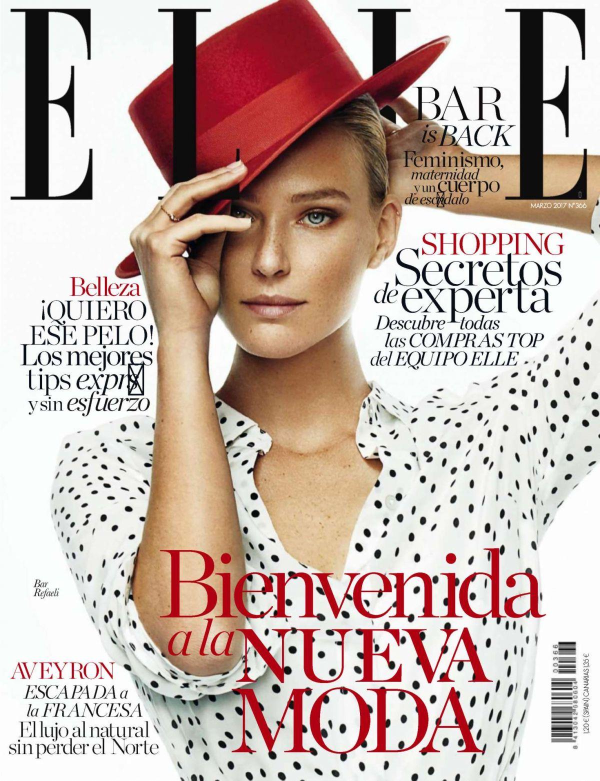 BAR REFAELI in Elle Magazine, Spain March 2017