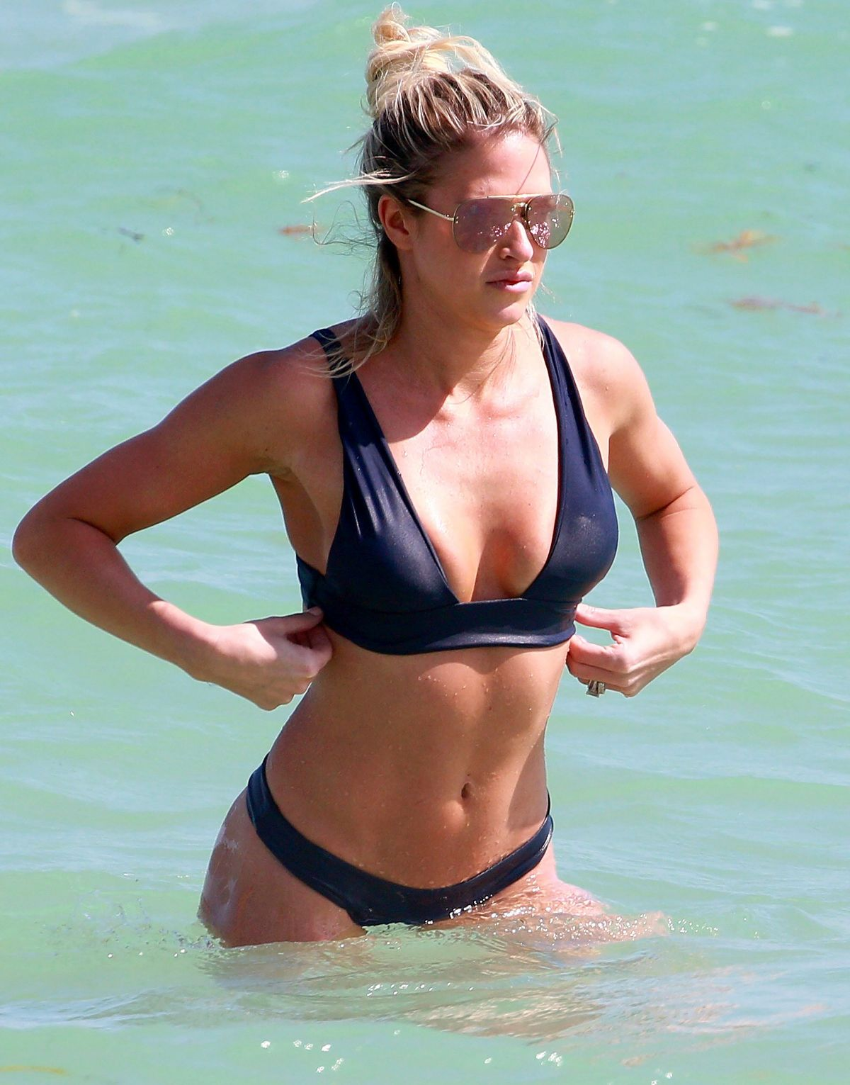 BARBIE BLANK in Bikini at a Beach in Miami 02/27/2017