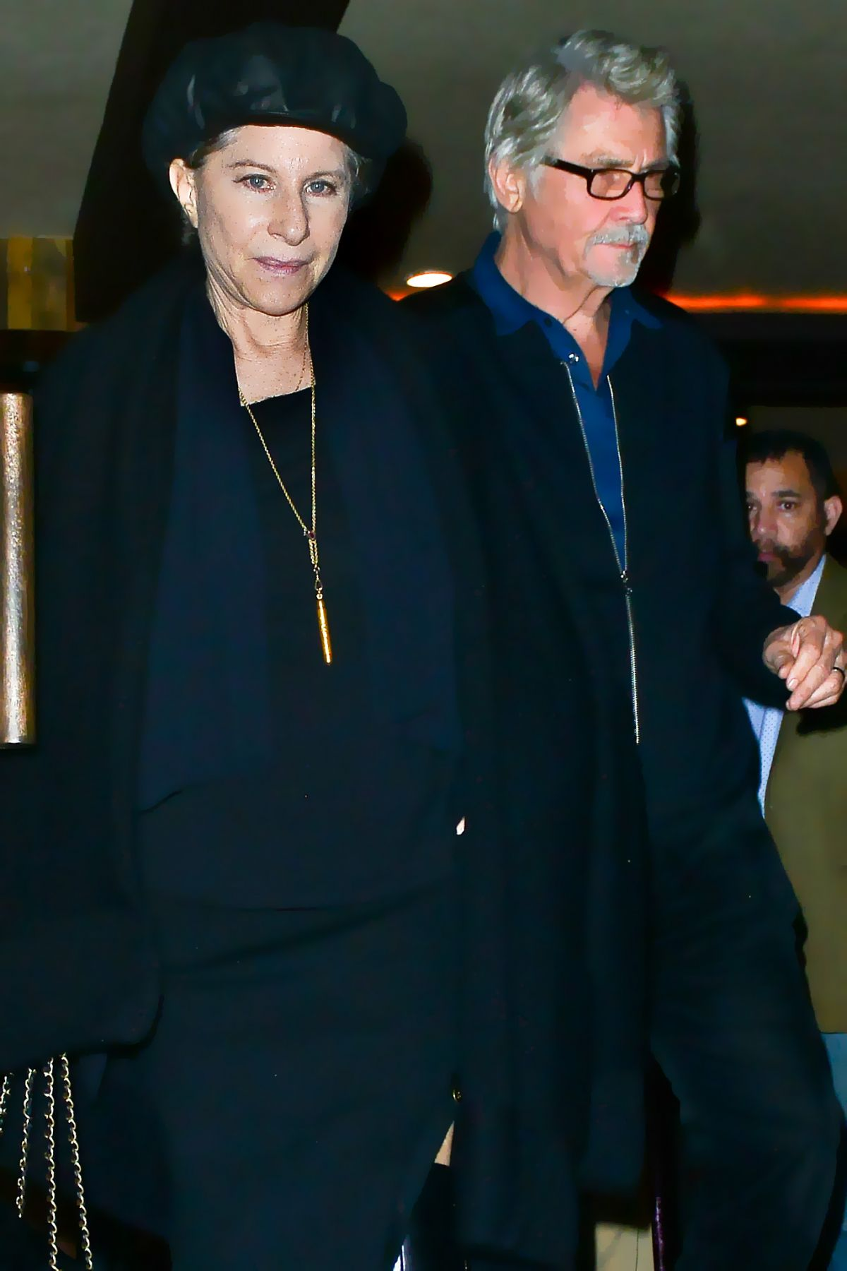 BARBRA STREISAND Out for Dinner in Los Angeles 02/16/2017