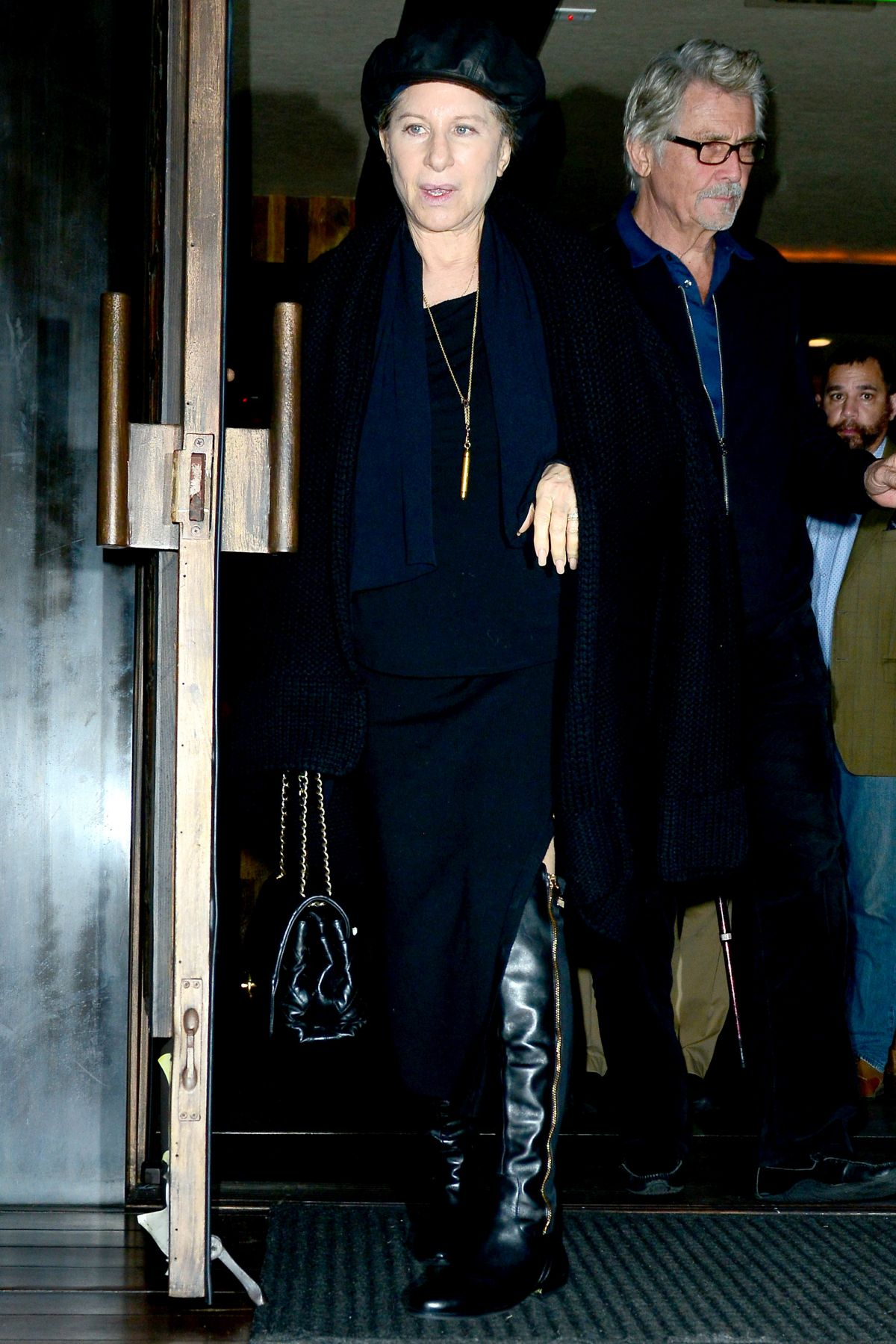 BARBRA STREISAND Out for Dinner in Los Angeles 02/16/2017 ...
