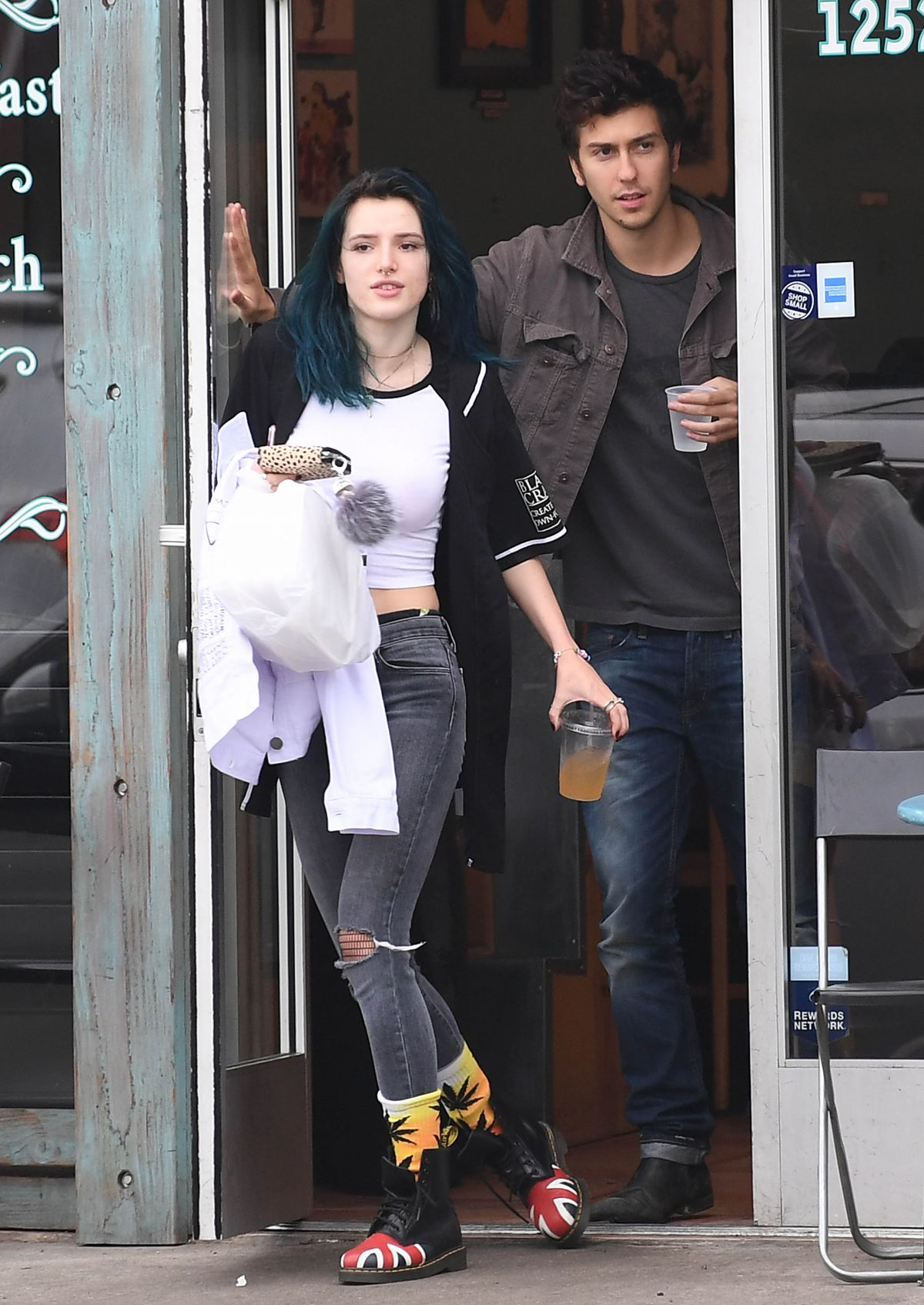 BELLA THORNE and Nat Wolff Out in Los Angeles 02/05/2017