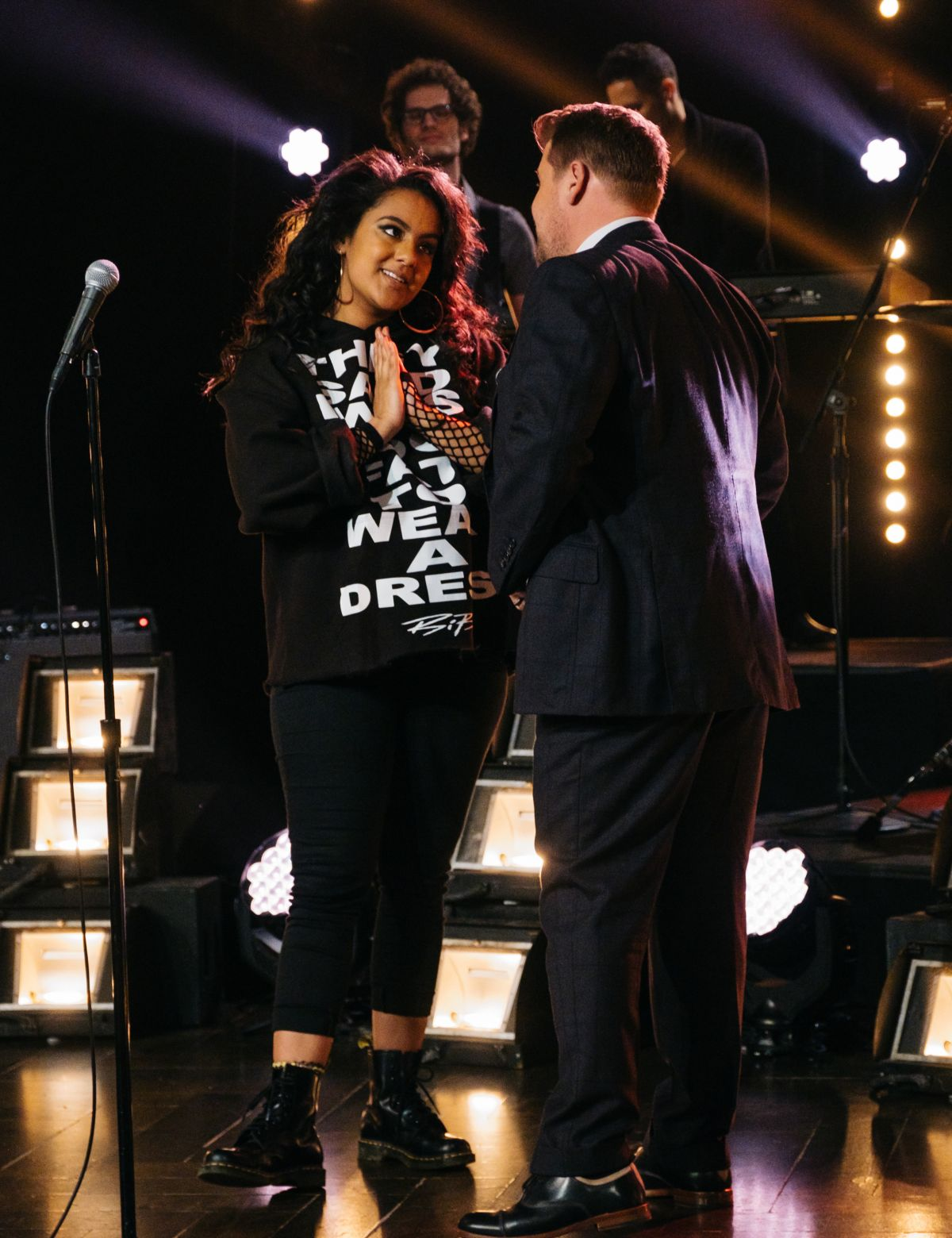 BIBI BOURELLY at Late Late Show with James Corden 02/16/2017