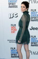 BITSIE TULLOCH at 2017 Film Independent Spirit Awards in Santa Monica 02/25/2017