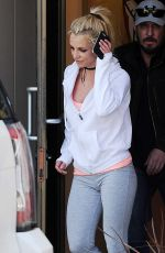 BRITNEY SPEARS at a Dance Studio in Los Angeles 02/25/2017