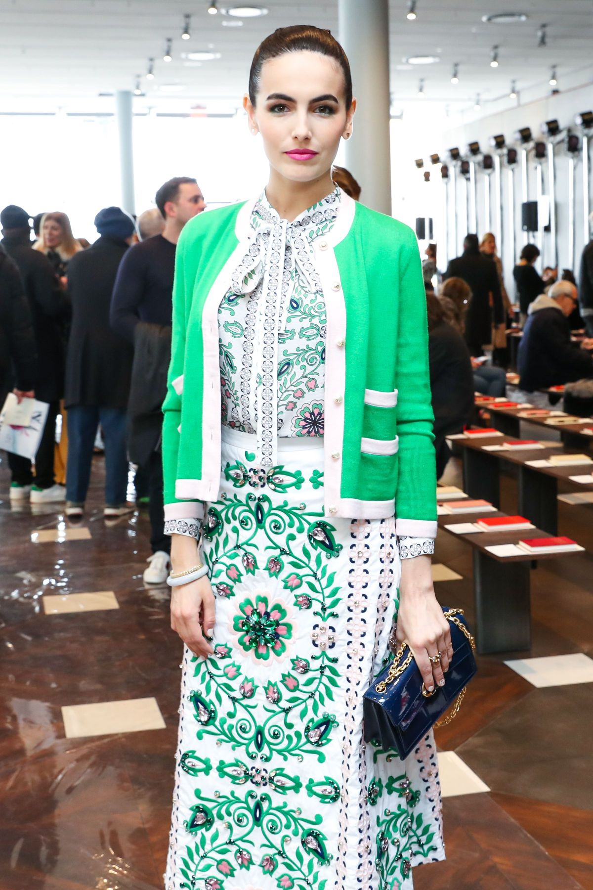 CAMILLA BELLE at Tory Burch Fashion Show in New York 02/14/2017