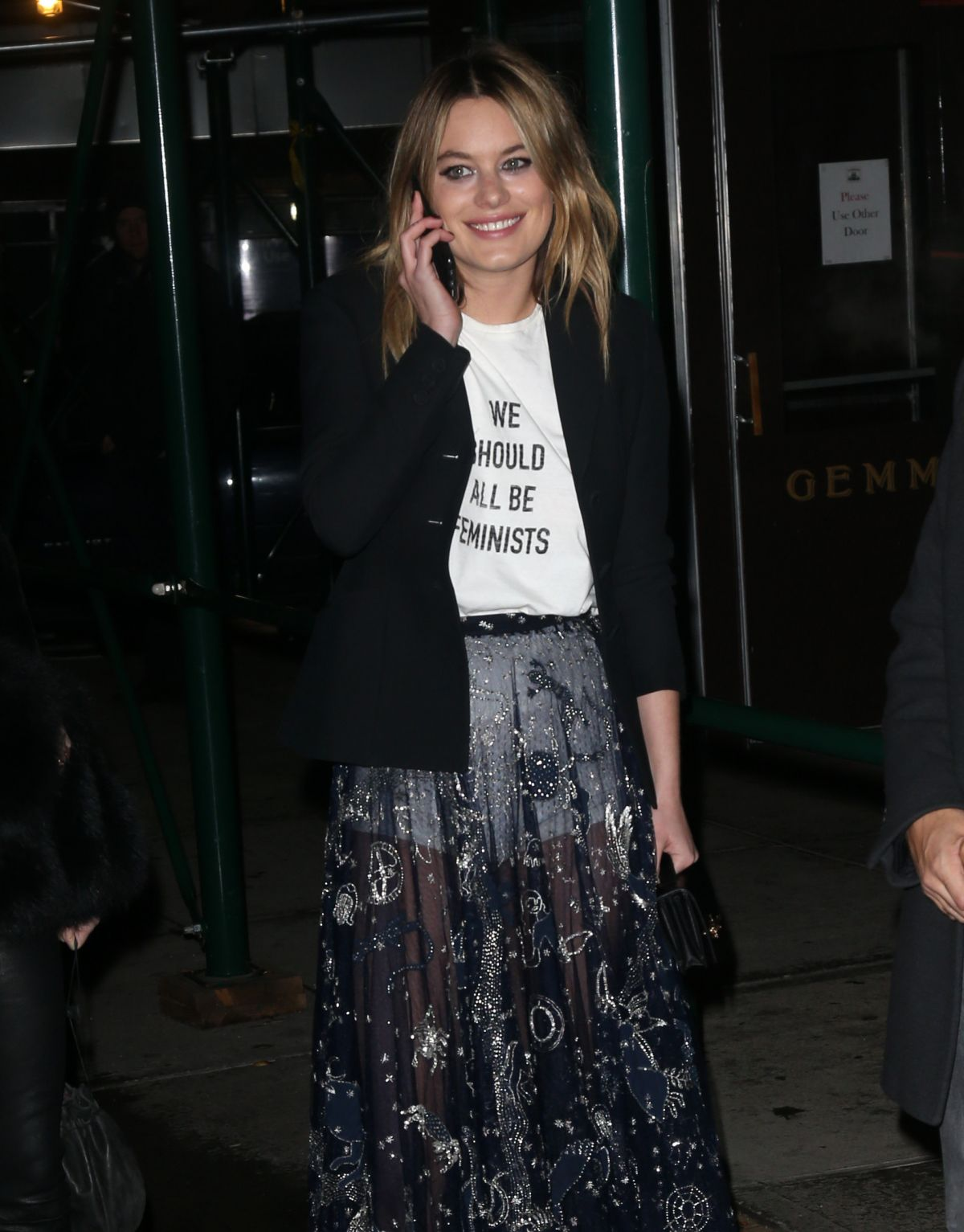 CAMILLE ROWE Night Out in New York 01/31/2017