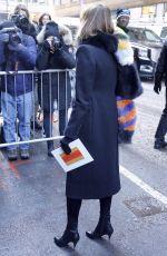 CARINE ROITFELD Arrives at Calvin Klein Fashion at New York Fashion Week 02/10/2017