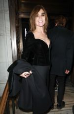 CARINE ROITFELD Arrives at Philipp Plein Fashion Show in New York 02/13/2017