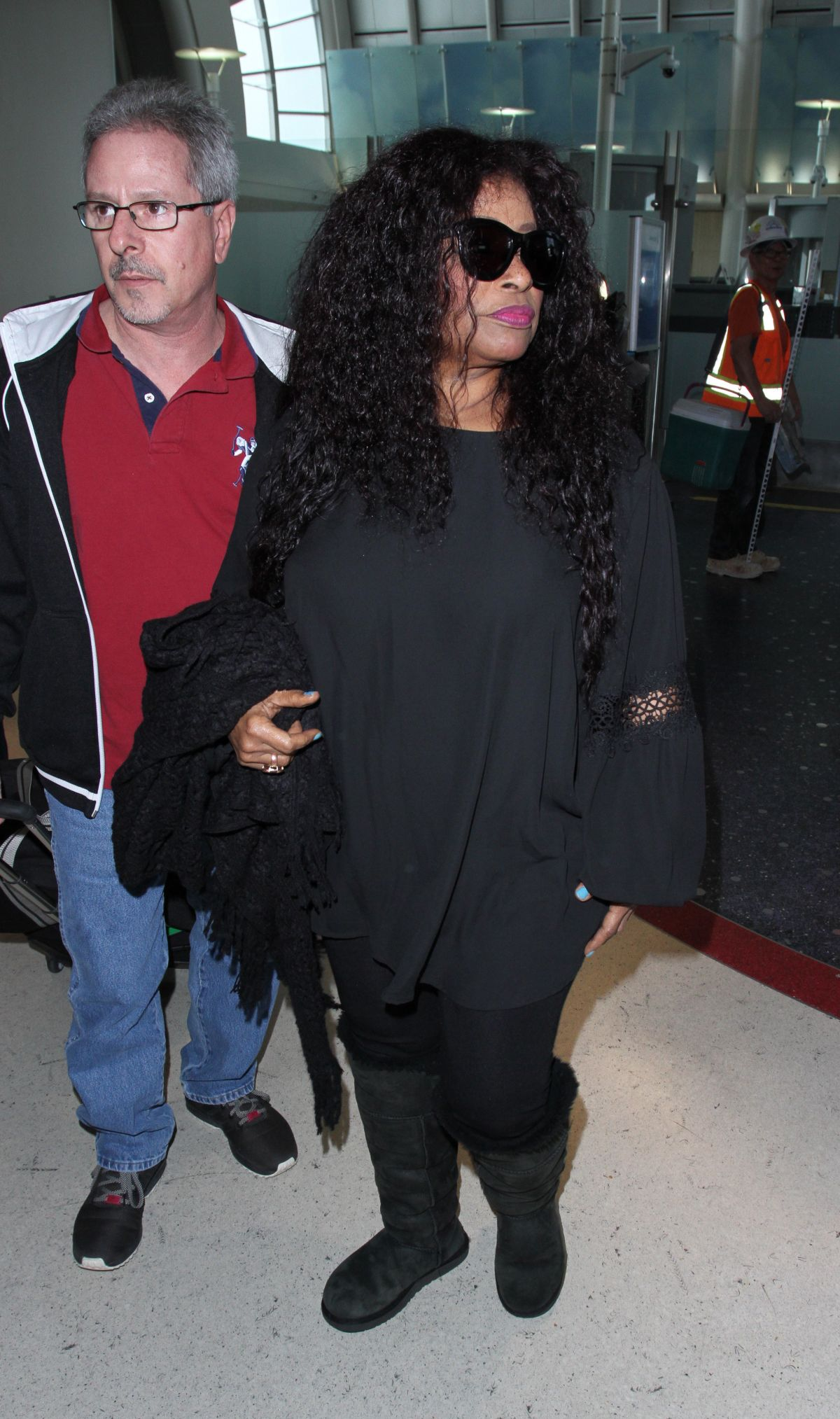 CHAKA KHAN at LAX Airport in Los Angeles 02/17/2017
