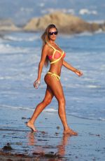 CHARLIE RIINA in Bikini on the Set of a 138 Water Photoshoot in Malibu 02/14/2017