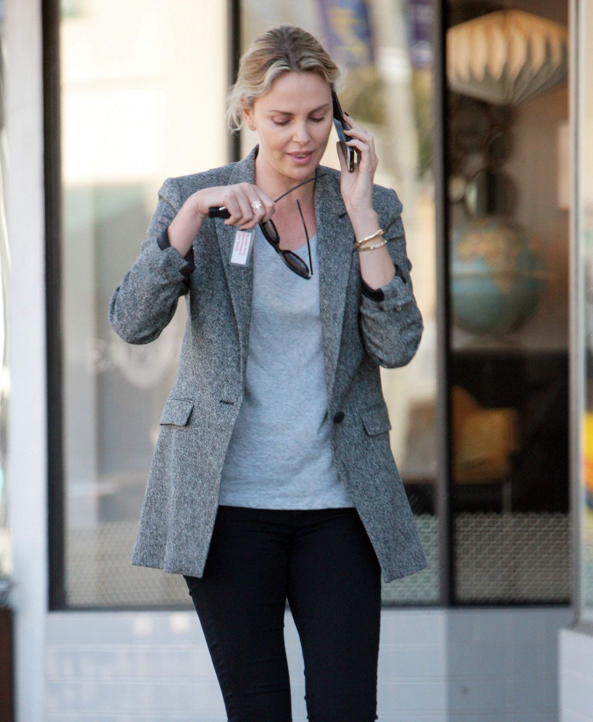 CHARLIZE THERON Out and About in Beverly Hills 02/01/2017 ... Charlize Theron Dating