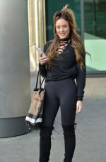 CHARLOTTE CROSBY Leaves Capital Radio Studios in Newcastle 02/15/2017