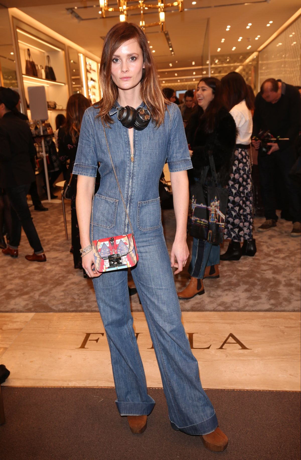 CHARLOTTE DE CARLE at Furla Store Launch Party in London 02/02/2017