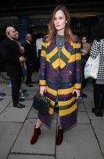 CHARLOTTE DE CARLE at Teatum Jones Fashion Show at London Fashion Week 02/17/