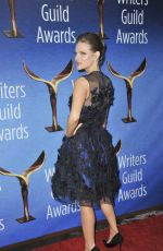 CHELSEY CRISP at 2017 Writers Guild Awards in Beverly Hills 02/19/2017