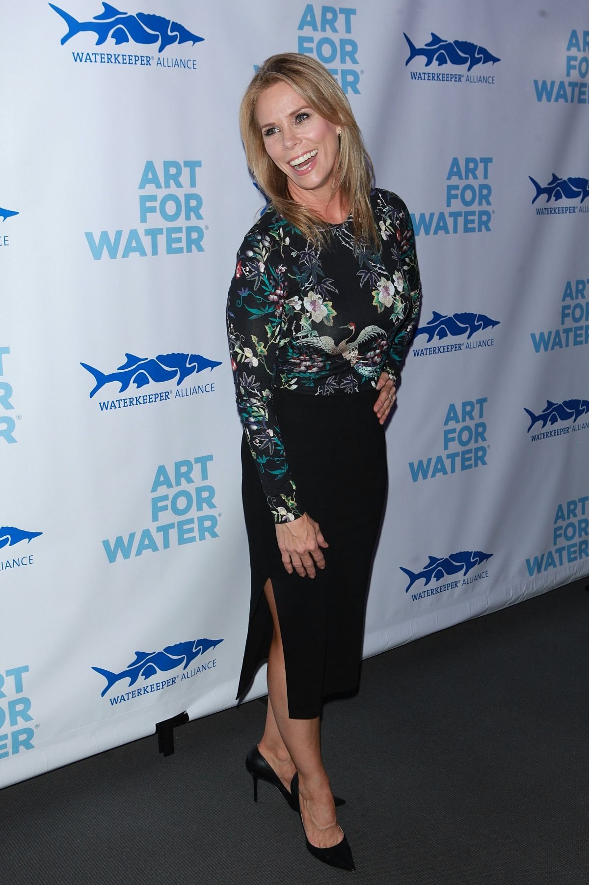 CHERYL HINES at Art for Water Benefiring Waterkeeper Alliance Charity in New York 02/06/2017