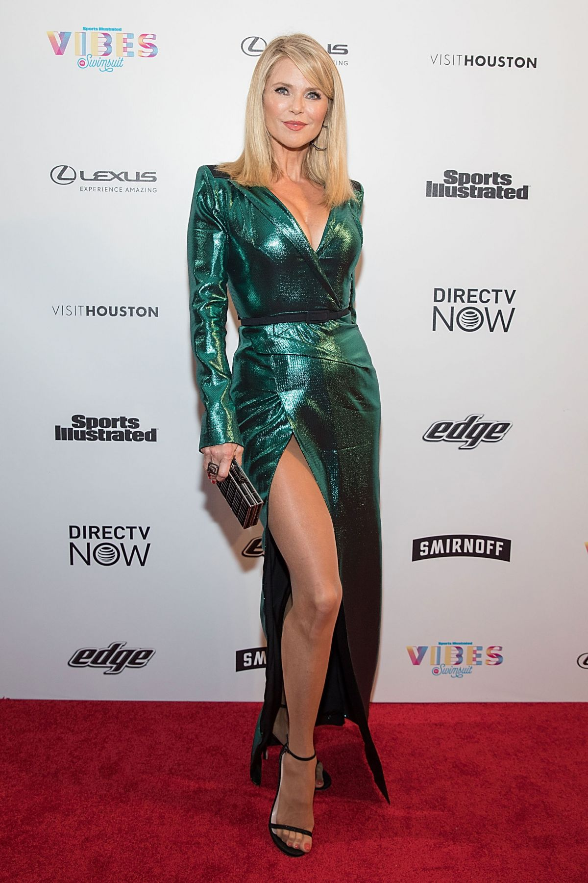 Christie brinkley vibes by si swimsuit launch festival in houston
