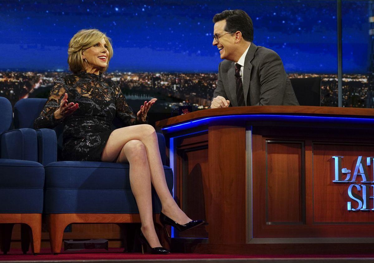 CHRISTINE BARANSKI at Late Show with Stephen Colbert 02/14/2017