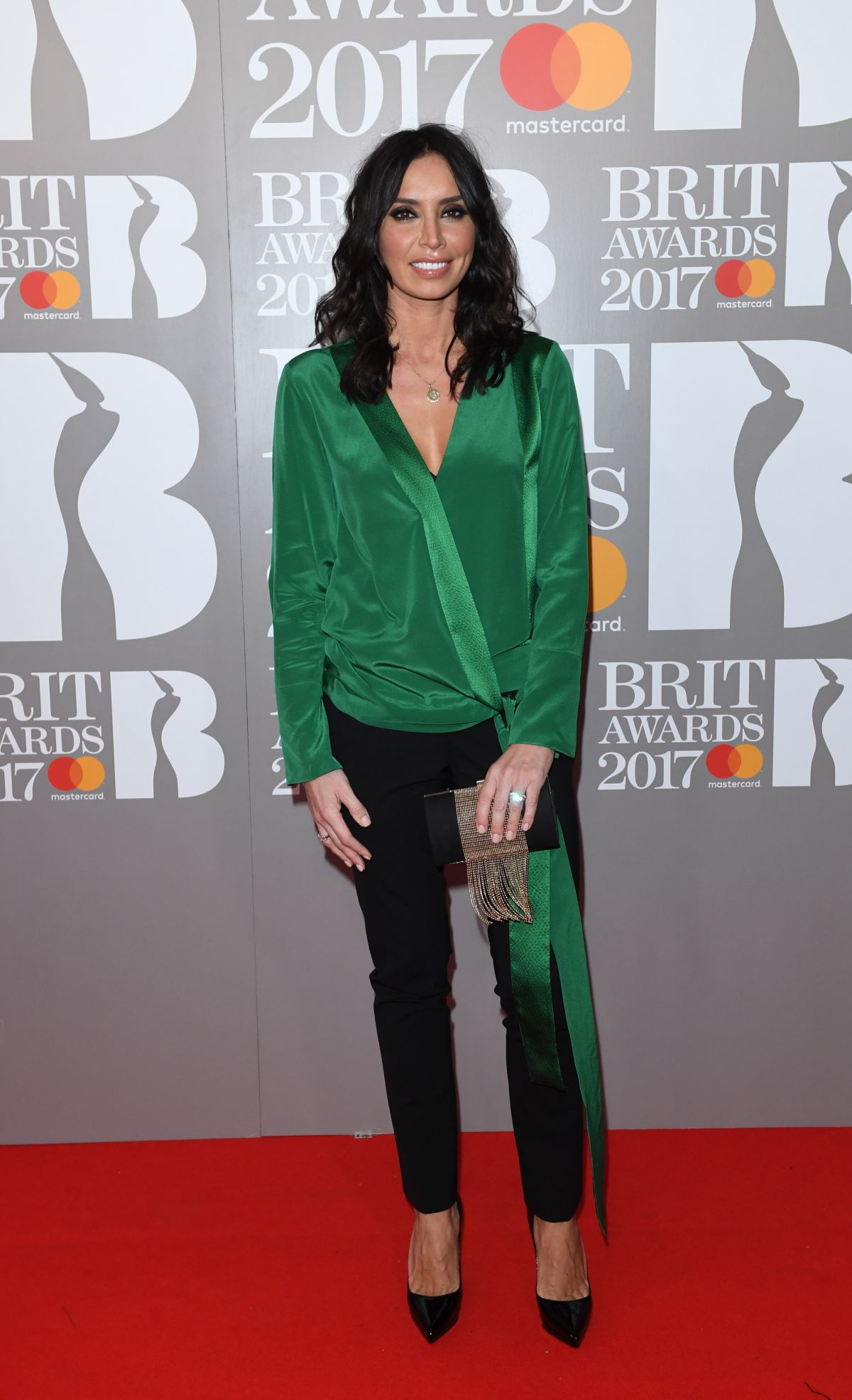 CHRISTINE BLEAKLEY at Brit Awards 2017 in London 02/22/2017