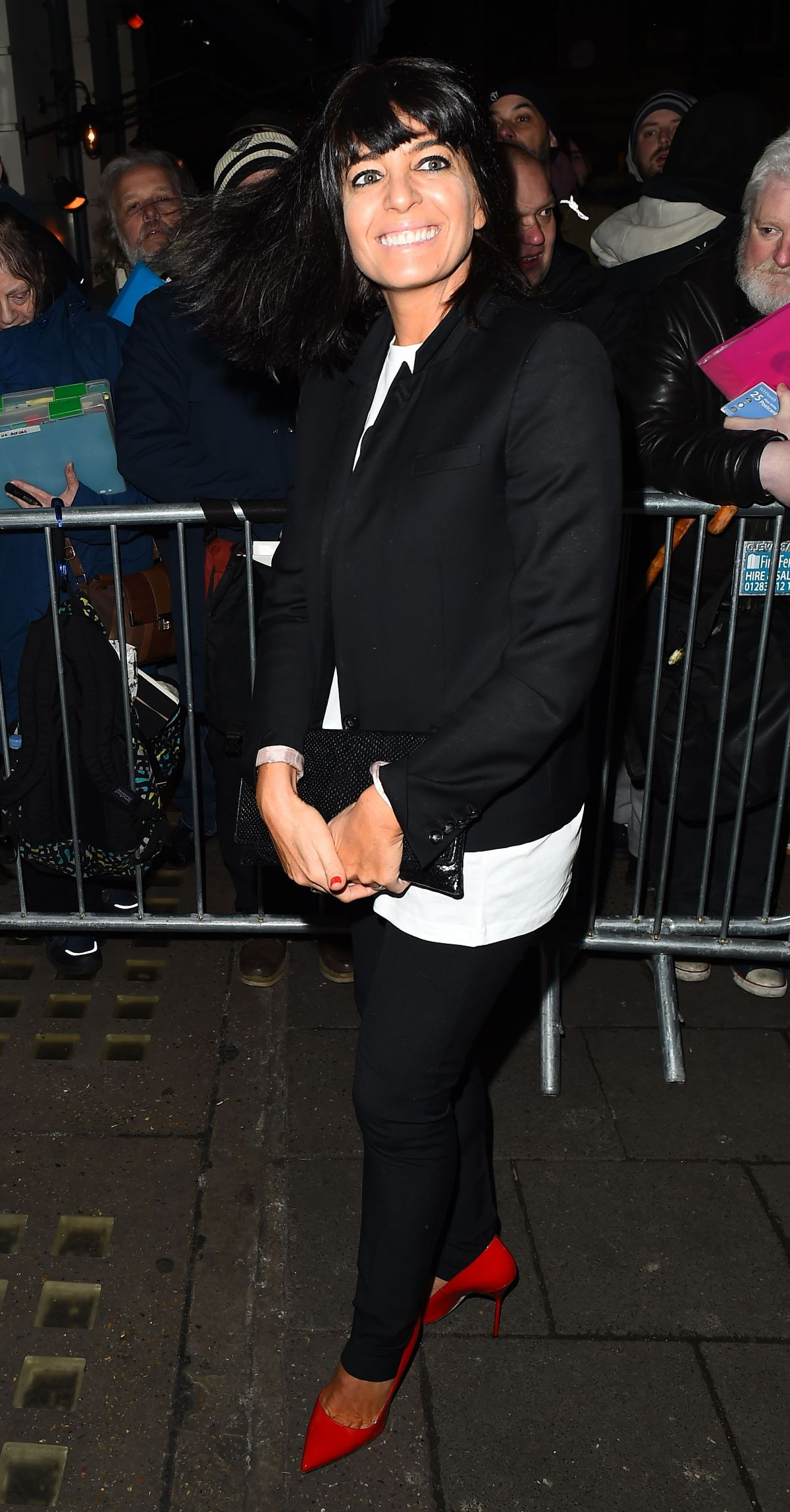 CLAUDIA WINKLEMAN Arrives at Harvey Weinstein Pre Baftas Dinner in London 02/10/2017