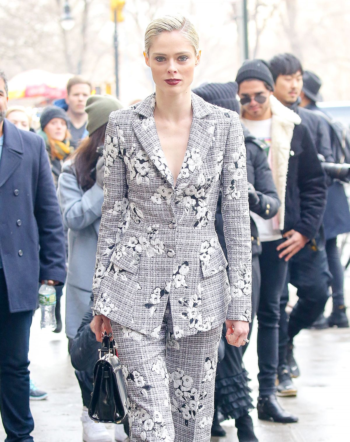 COCO ROCHA Arrives at Christian Siriano Fashion Show in New York 02/11/2017