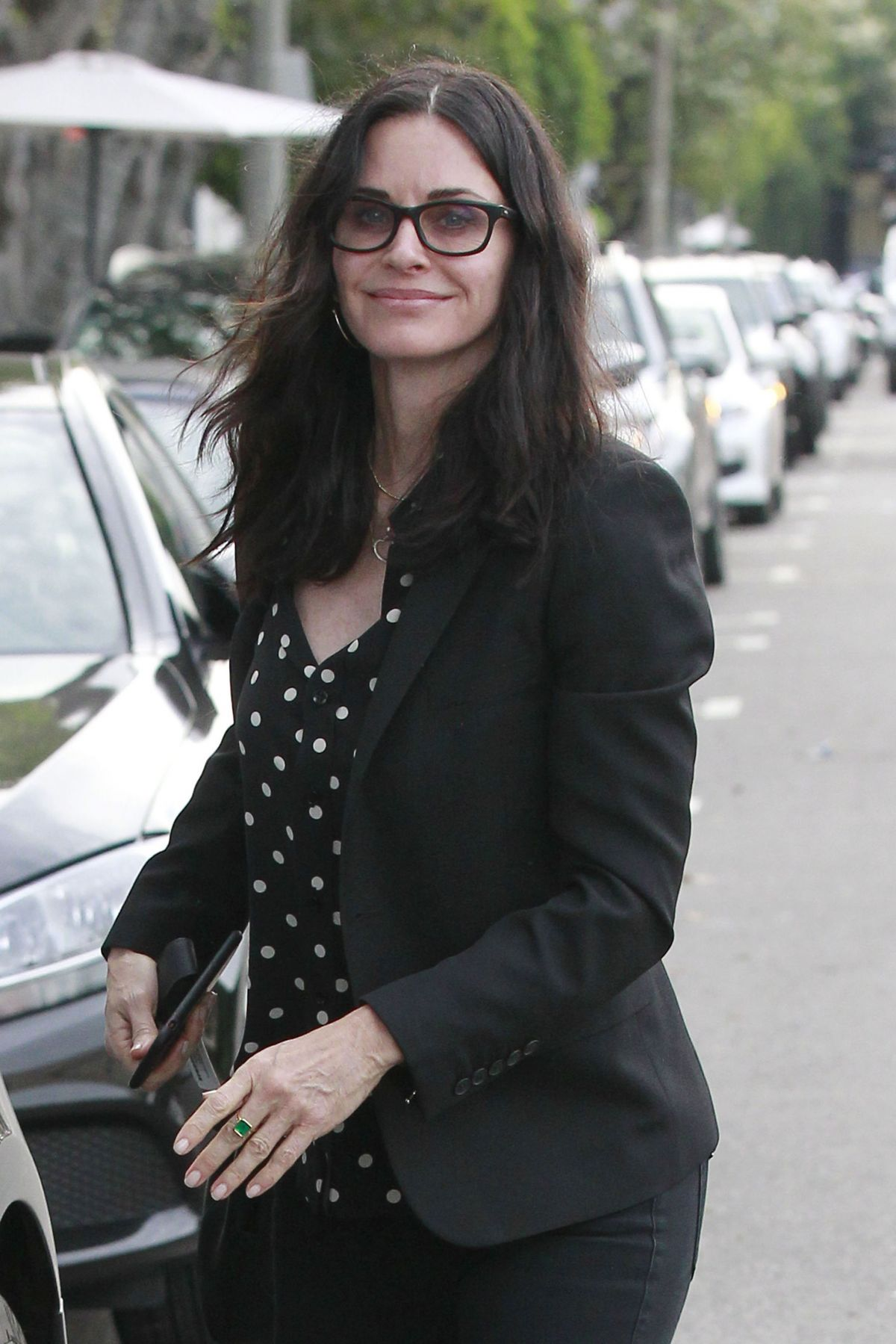 COURTENEY COX Out and About in Beverly Hills 02/08/2017 ...