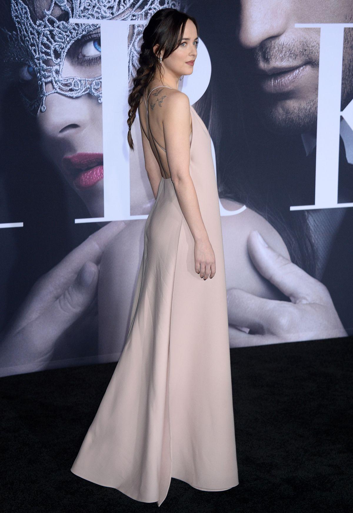 DAKOTA JOHNSON at Fifty Shades Darker Premiere in Los
