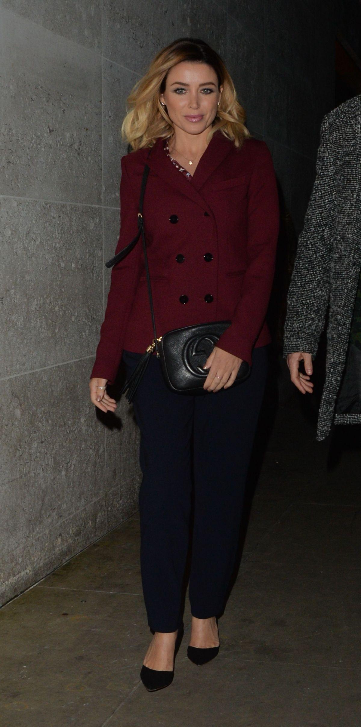 DANNII MINOGUE Leaves BBC Studios in London 02/08/2017