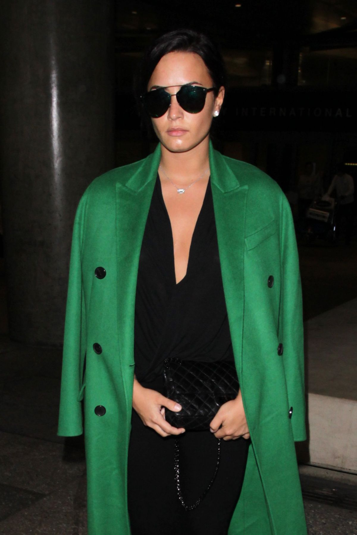 DEMI LOVATO at LAX Airport in Los Angeles 02/05/2017