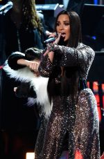 DEMI LOVATO Performs in a Tribute to Bee Gees at 2017 Grammy Awards in Los Angeles 02/12/2017