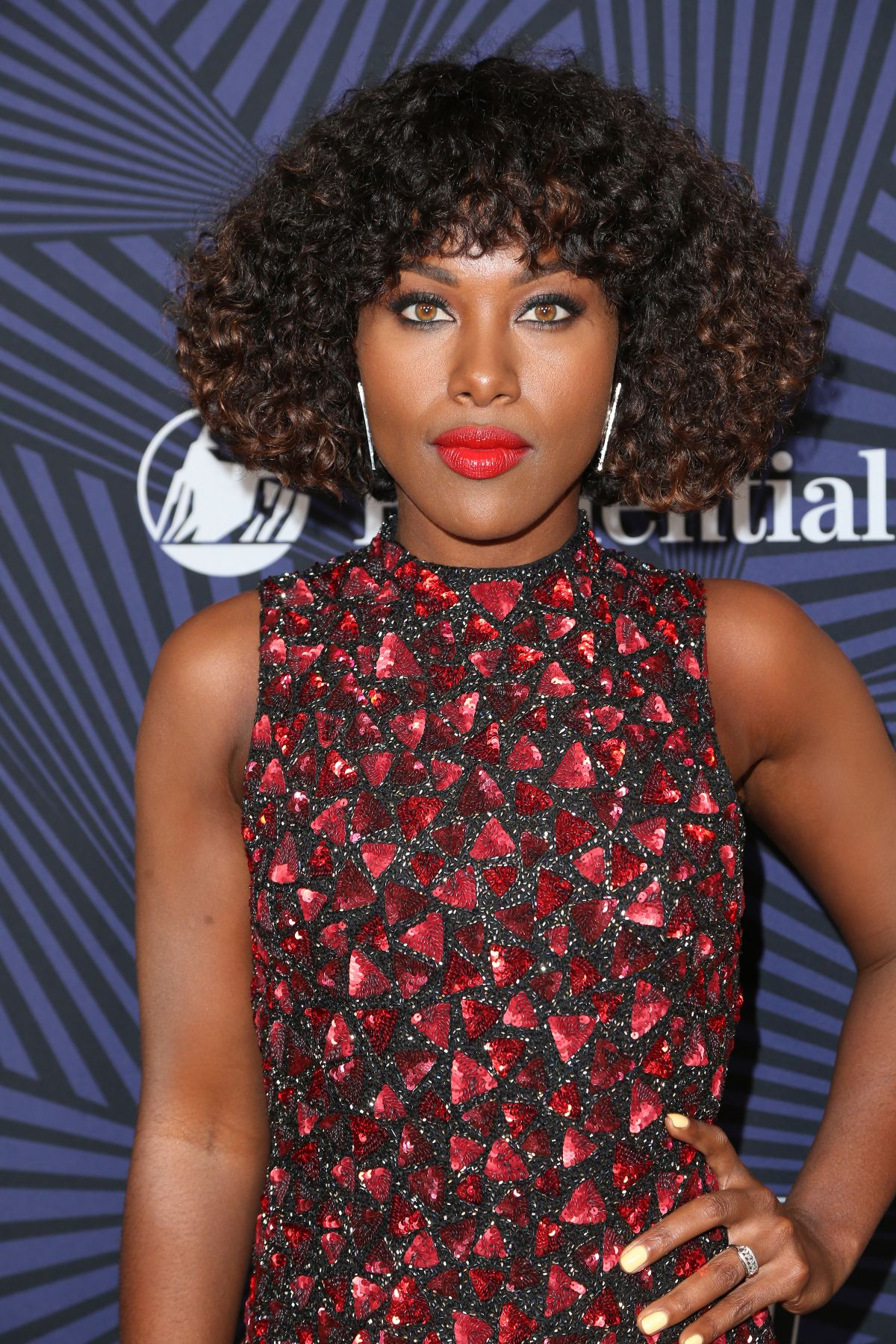 DEWANDA WISE at Bet's 2017 American Black Film Festival Honors Awards in Beverly Hills 02/17/2017