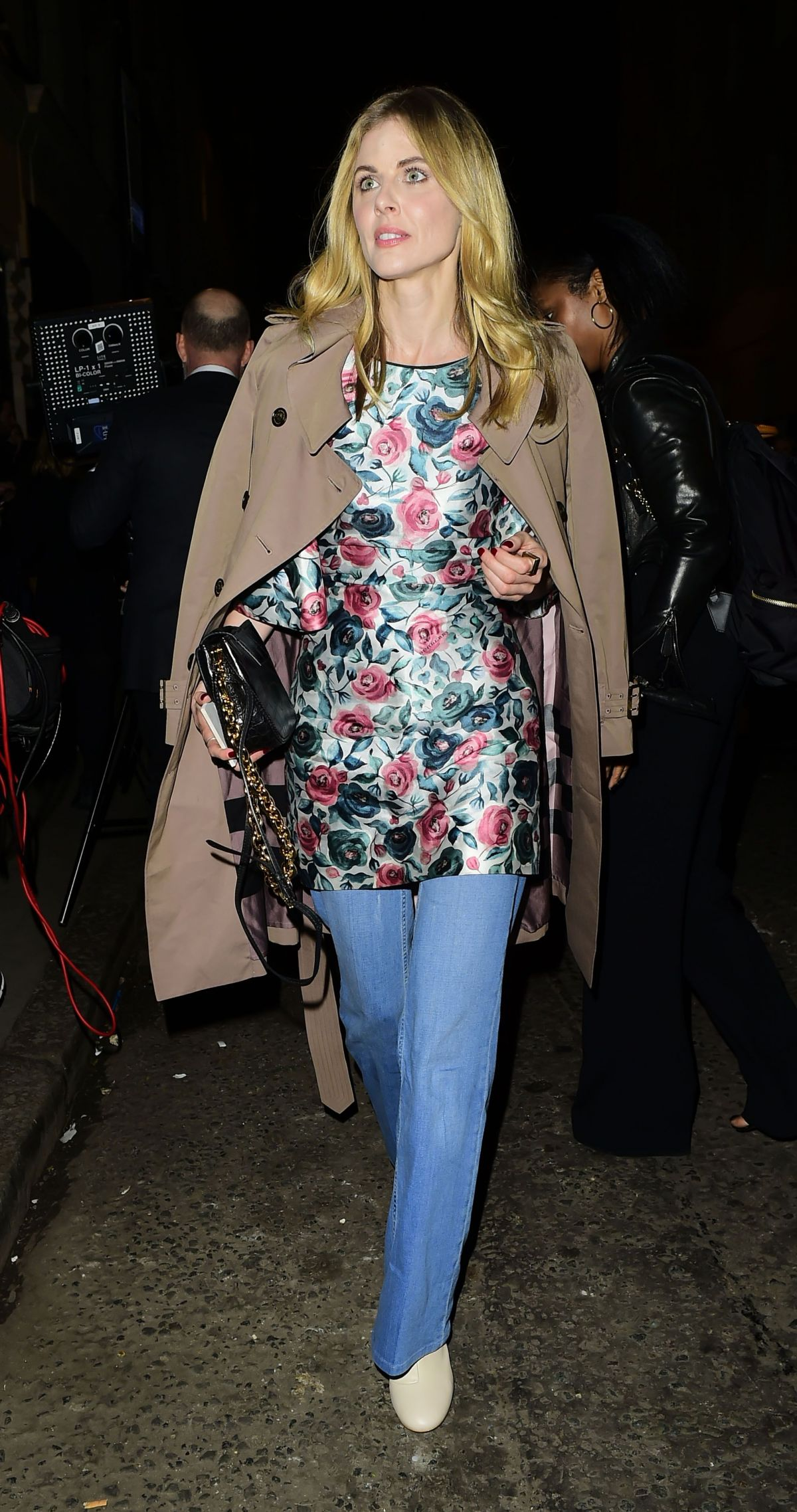 DONNA AIR Arrives at Burberry Fashion Show After Party in London 02/20/2017