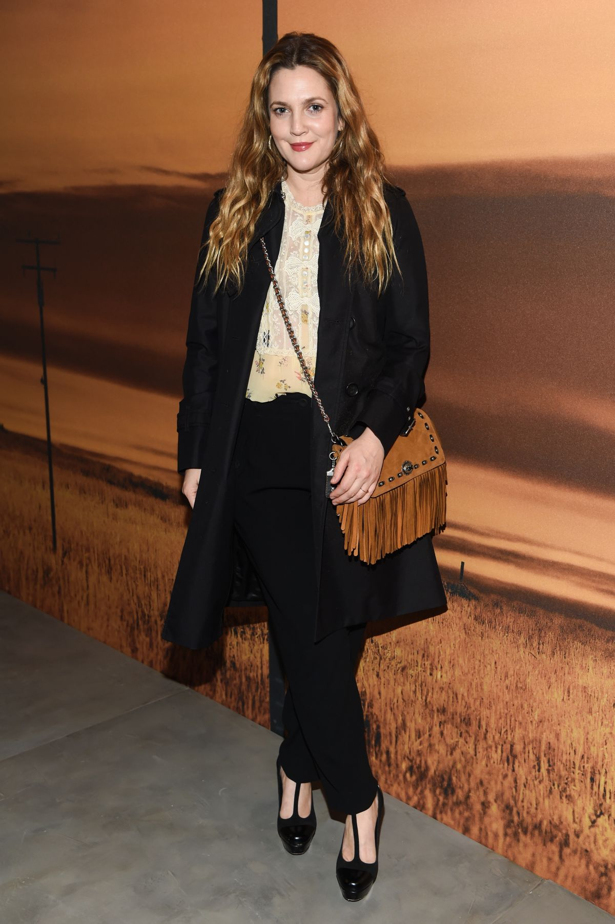 DREW BARRYMORE at Coach Fashion Show at New York Fashion ...