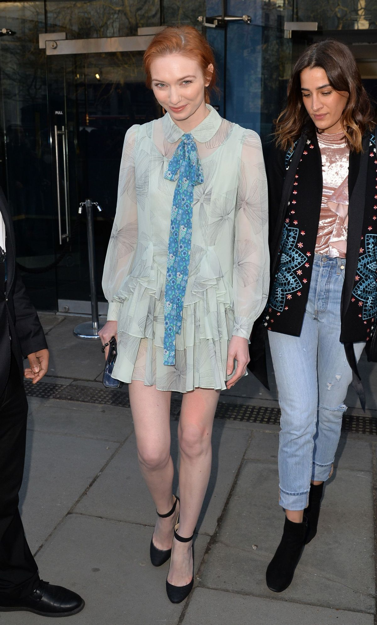 ELEANOR TOMLINSON at Bora Aksu Fashion Show at London Fashion Week 02/17/2017